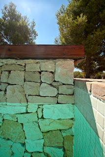 gresite+crema+piscina Colores de agua de piscina.