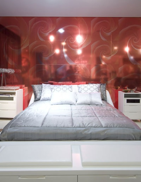 Double Bedroom Red White And Grey Bedroom Decorating Ideas