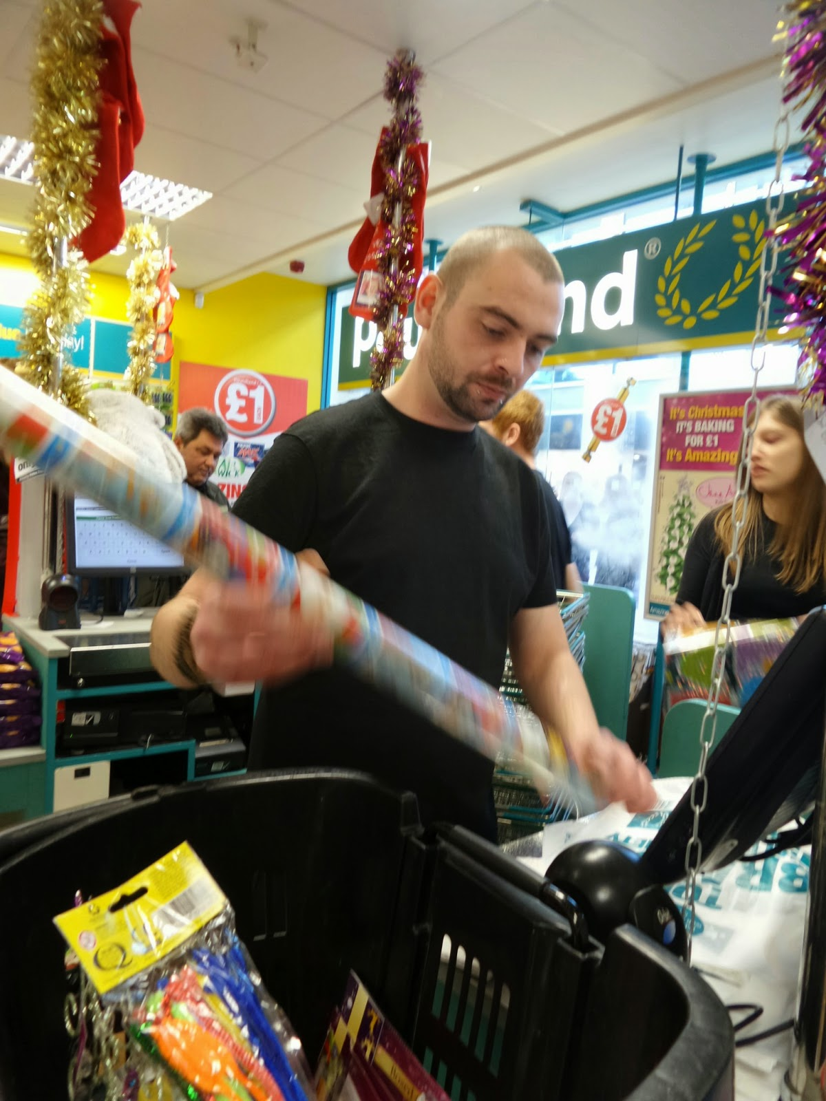A Poundland employee who gave us permission to take his picture and put it on the internet