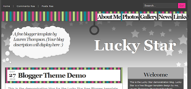Retro Fun Blogger Template