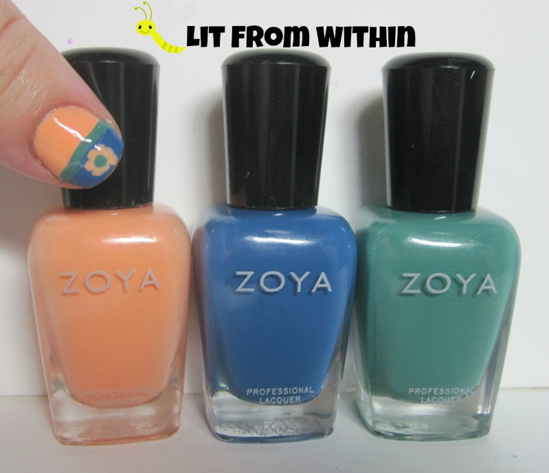 Bottle shot:  Zoya Cole, Edie, and Alexa