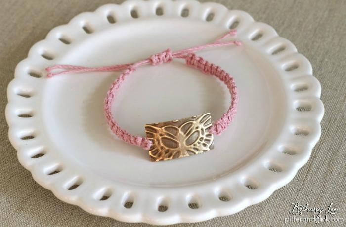 Boho Embossed Butterfly Bracelet www.pitterandglink.com