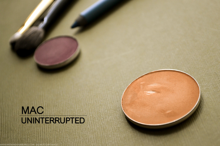 MAC Uninterrupted Eyeshadow - Prolongwear - Swatch Review Photos FOTD