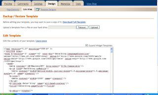 cara edit html blogspot