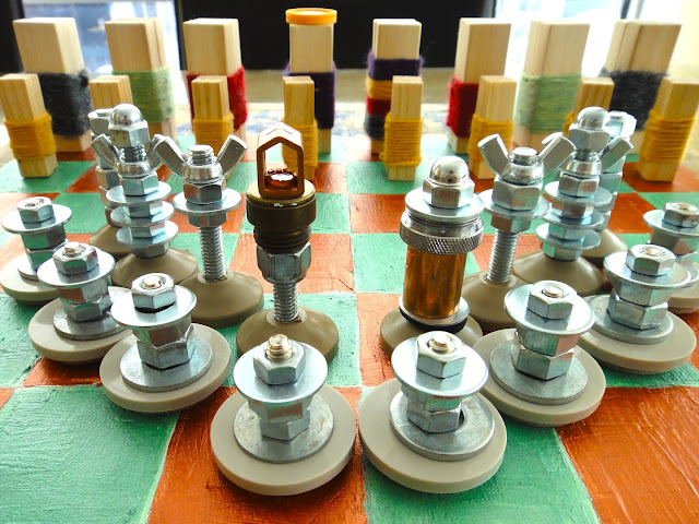 Trash to Chess Set