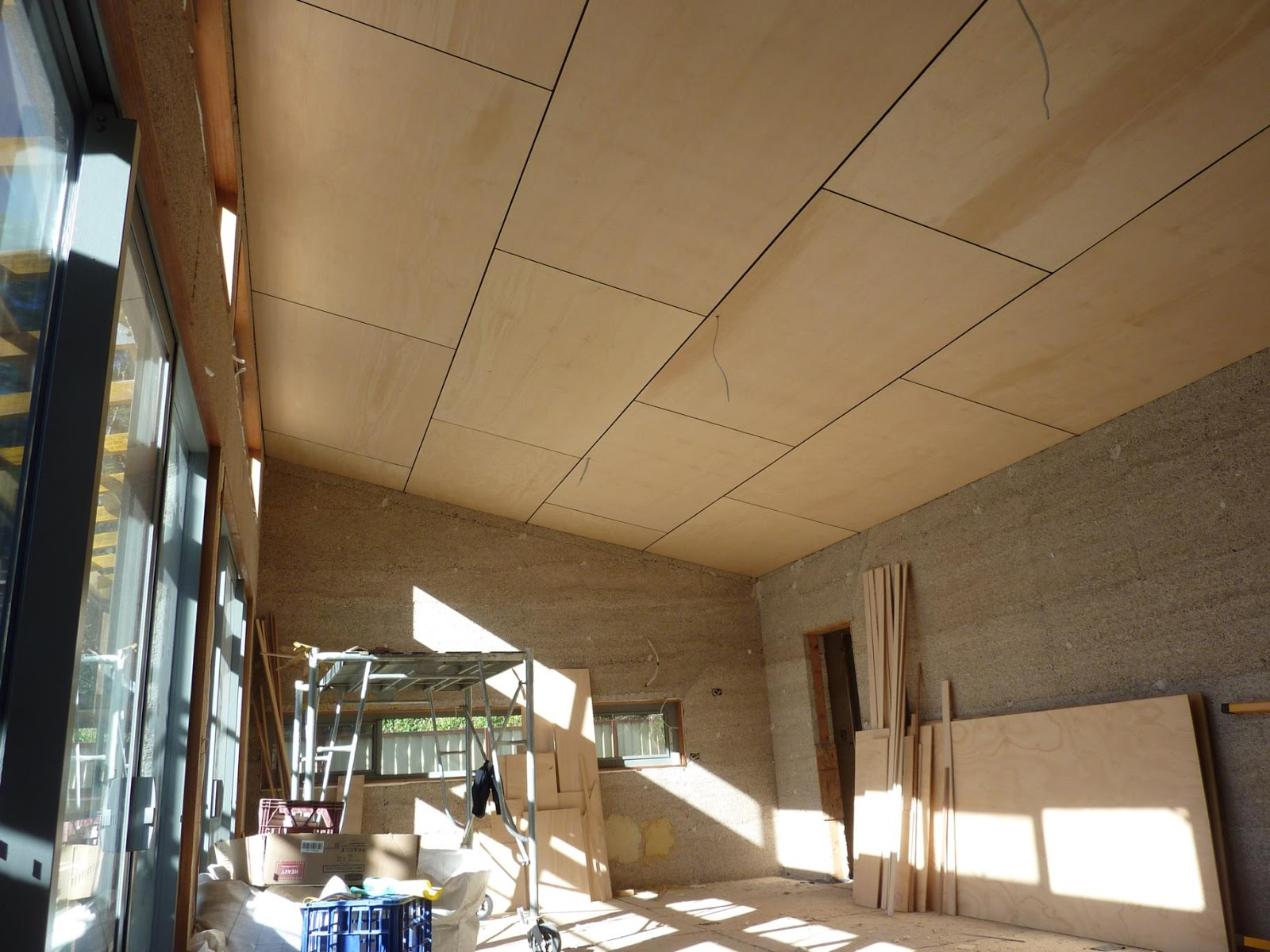 Culburra Hemp House Ceilings And Internal Walls Completed