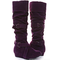 Suede Boots Purple4