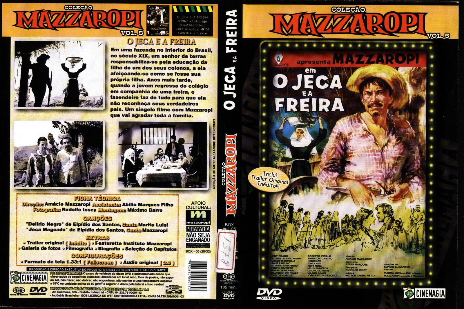 a biography and life work of amacio mazzaropi a brazilian filmmaker