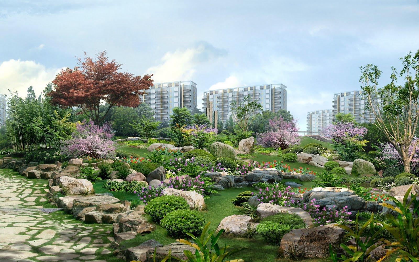 Bellísimos jardines en el Lejano Oriente (Japón) 1920x1200px