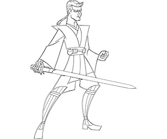 #8 Anakin Skywalker Coloring Page