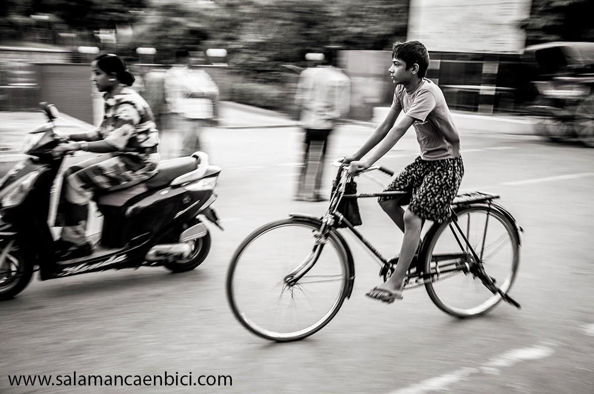 en bici al cole, salamanca, bici