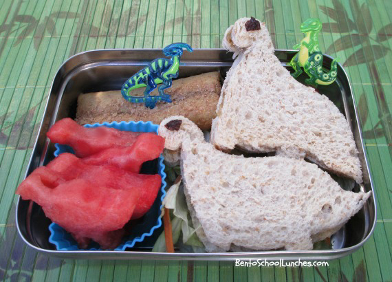 Dinosaurs bento school lunch
