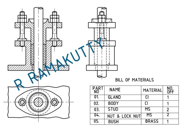 Machine drawing stuffing box drawn by ramakuttyr ccuart Choice Image