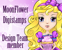 Moon Flower Digistamps