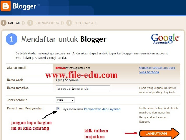 Cara membuat blog atau website di blogspot