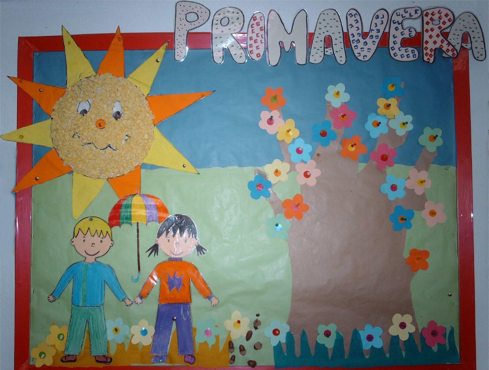 Educaci n infantil decoraci n primaveral for Decoracion primavera infantil