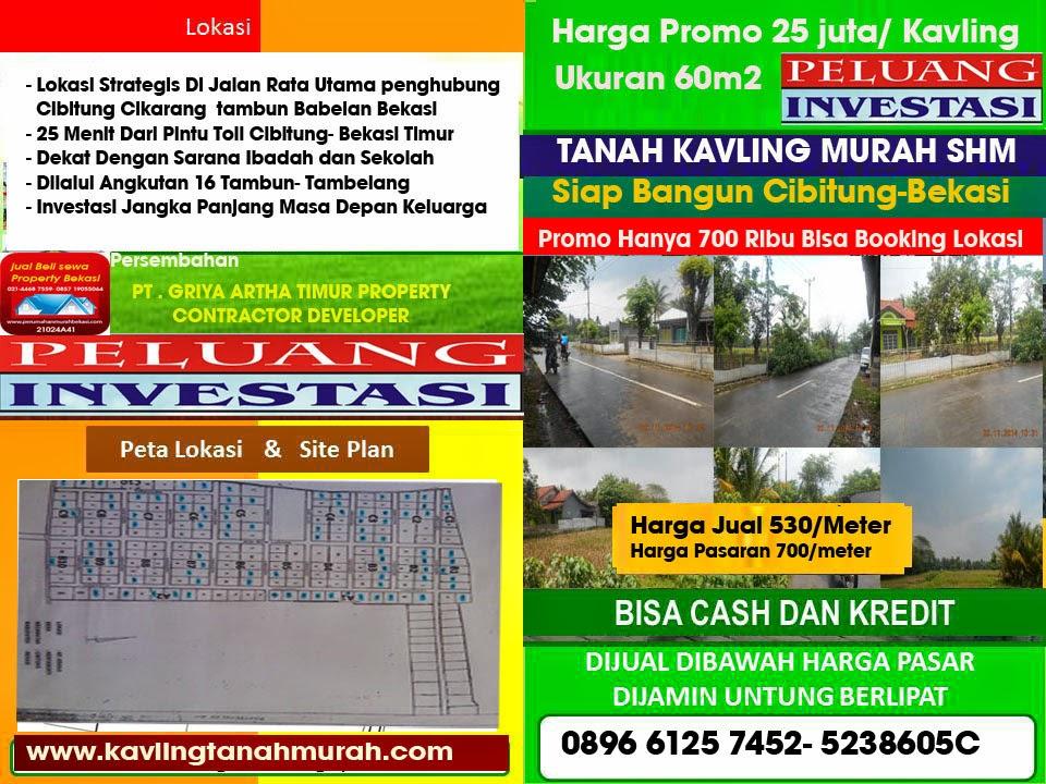 Ini Nih Daftar Rincian Harga Promo Tanah Kavling Tanpa DP Di Bekasi