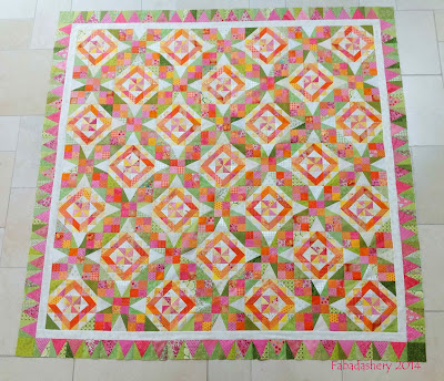 Celtic Solstice Mystery Quilt 2013 (Bonnie Hunter) completed