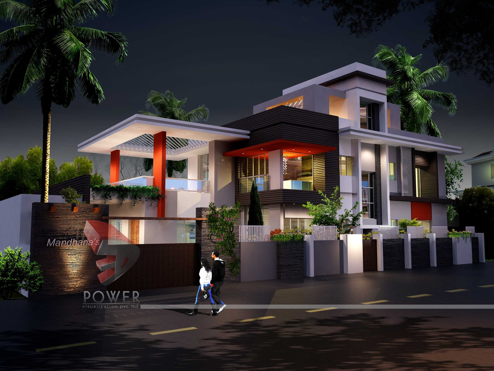 3d architecture rendering ultra modern home design