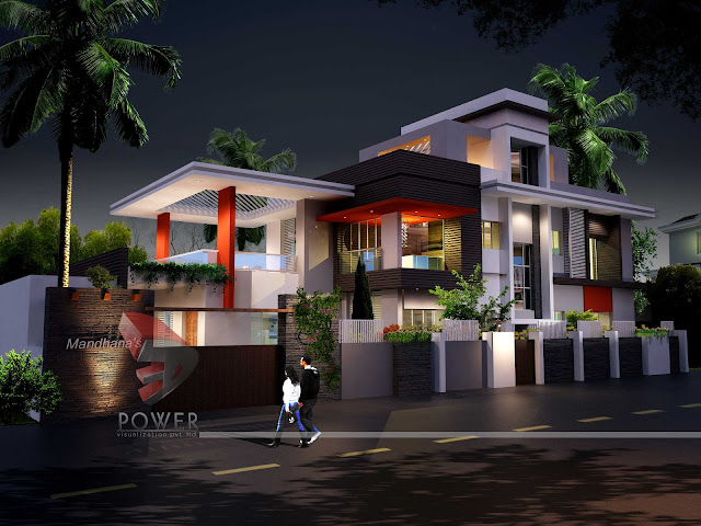 3d architecture rendering,Ultra Modern Home Design,