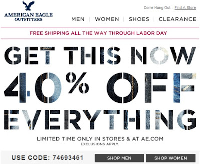 American eagle free shipping coupon code
