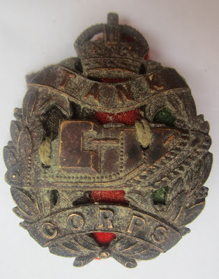 WW1 Tank Corps Cap Badge