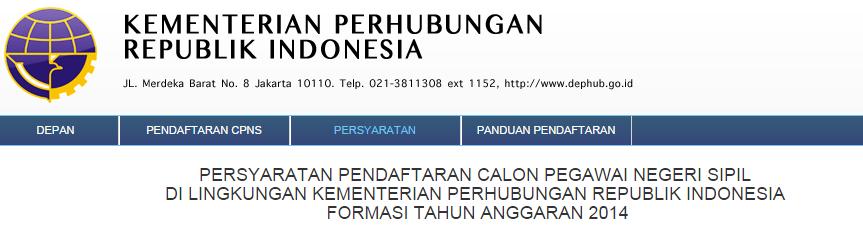 Tata Cara Tahapan Pendaftaran CPNS Kemenhub 2014