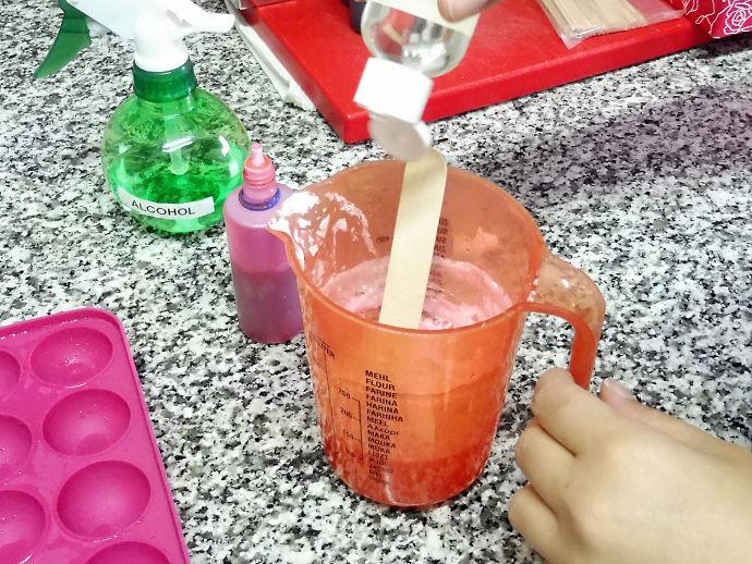 Pop soap de fresa y menta