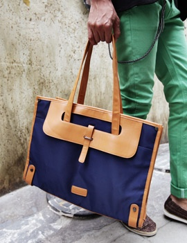 men hand bag for youth blue brown