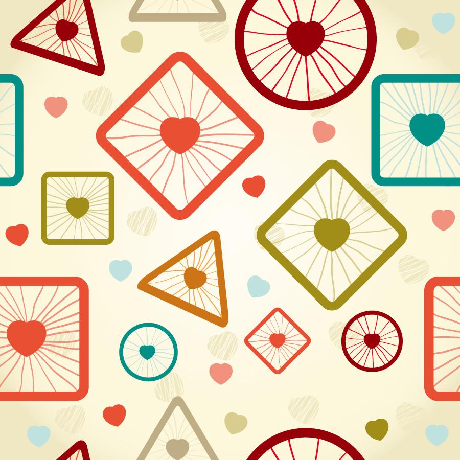 シームレスな図形の背景 Retro seamless pattern イラスト素材