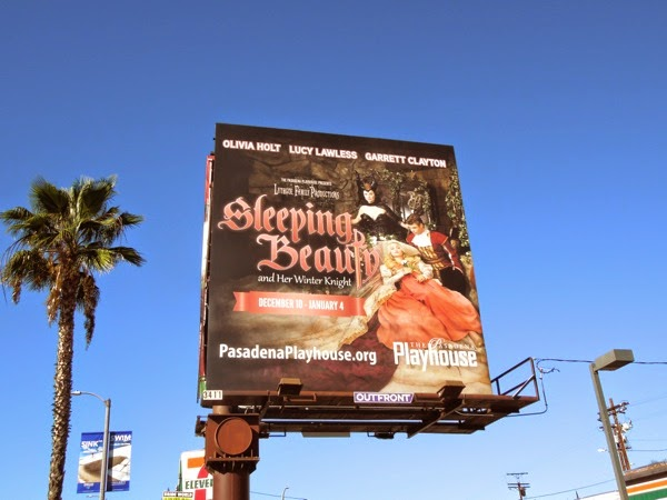 Lucy Lawless Sleeping Beauty Pasadena Playhouse billboard