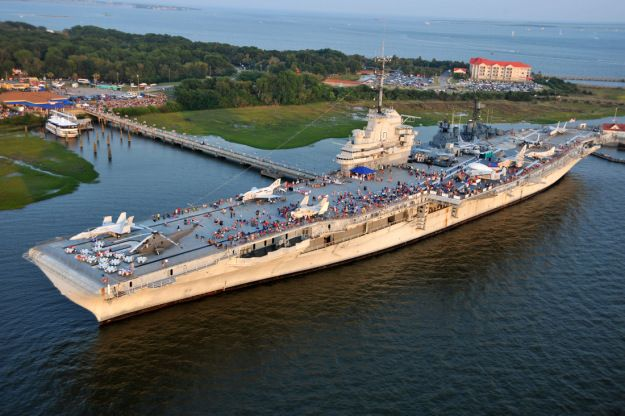 Pearl harbor day rally with donald trump at the uss yorktown in mount