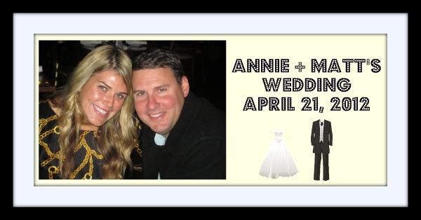 Annie + Matt's Wedding Website