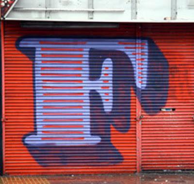 graffiti alphabet letter F