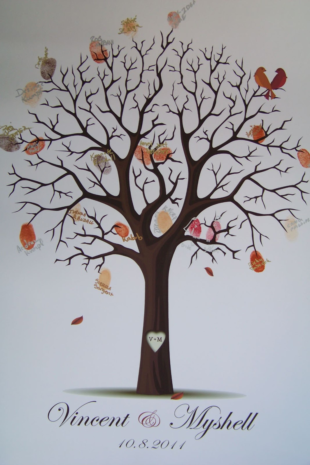floralisa weddings and events diy fingerprint tree