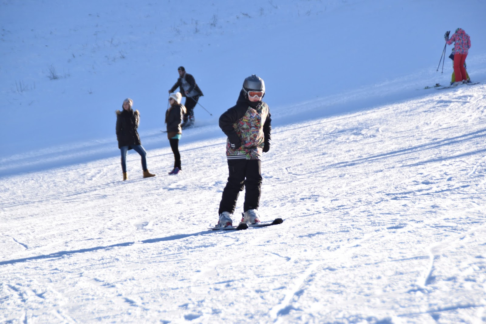 Children at Bansko Ski Resort Runs
