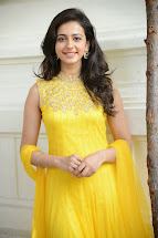 Rakul Preet Hot Yellow Dress