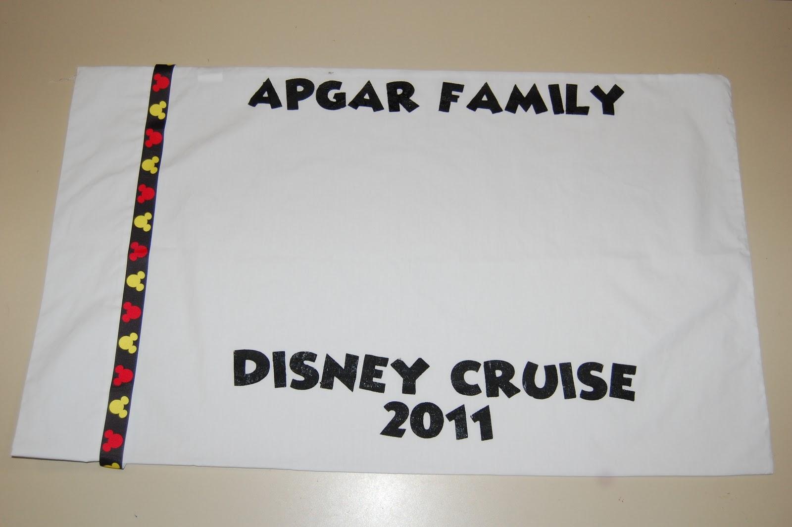 Scrappin My Stress Away Disney Cruise Autograph Pillowcases