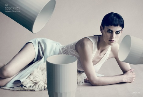 Saskia de Brauw by Linder and Paolo Roversi for Wallpaper