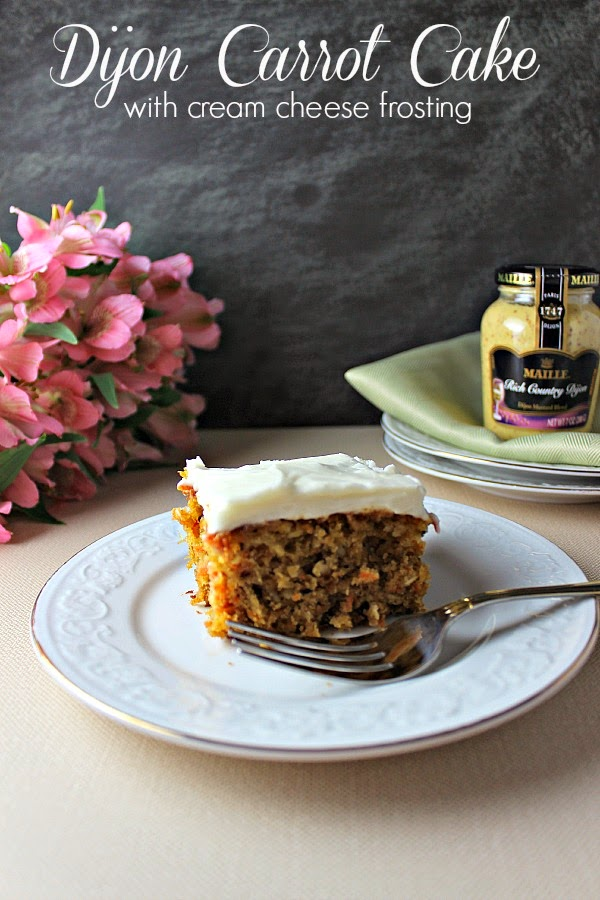 Renee's Kitchen Adventures: Dijon Carrot Cake with Cream Cheese Frosting