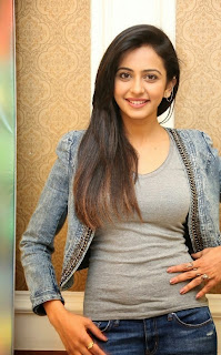 Actress Rakul Preet Singh Pictures in Jeans at Rough Movie Success Meet  1