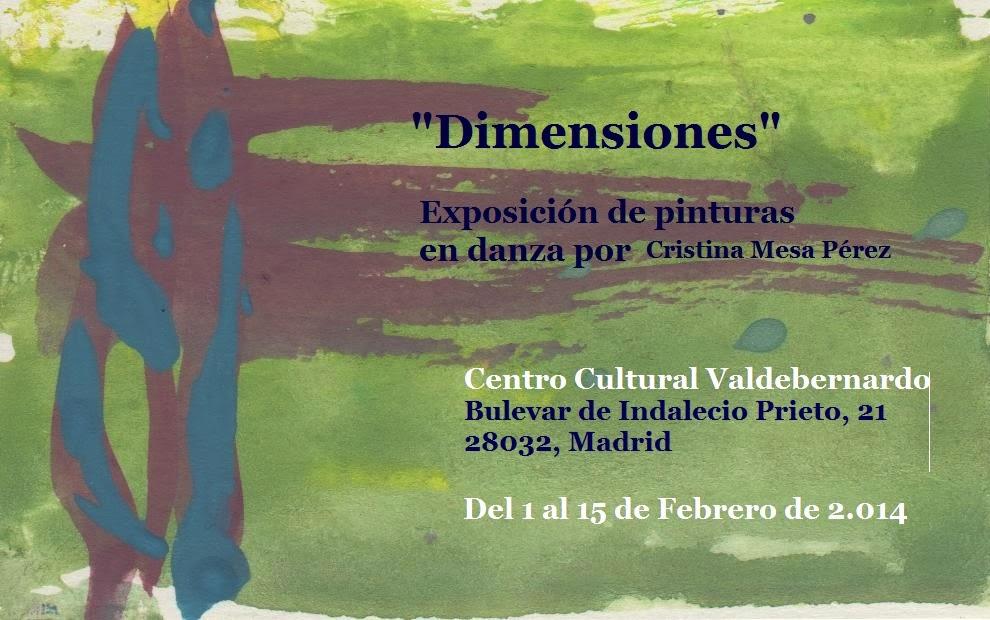 "Expo ""Dimensiones"", Cristina Mesa, primera quincena de febrero CC Valdebernardo"
