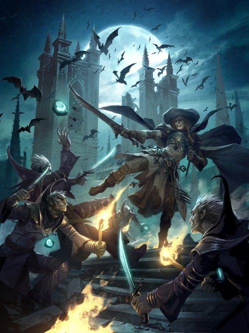 michal ivan ilustrações fantasia ficção científica games quadrinhos sangue da noite
