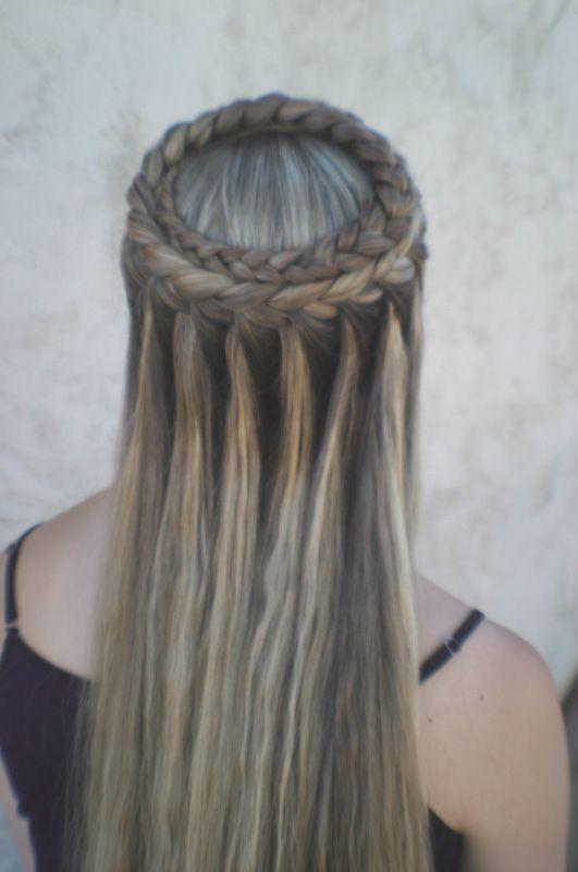aqu las mejores imgenes de cortes de pelo largo y peinados con trenzas para mujerescomo fuente de inspiracin - Trenzas Pelo Largo