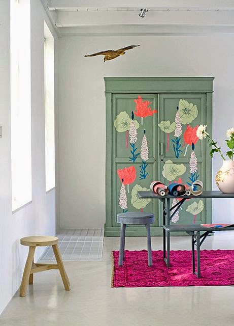 Casa com detalhe blog for Armarios reciclados