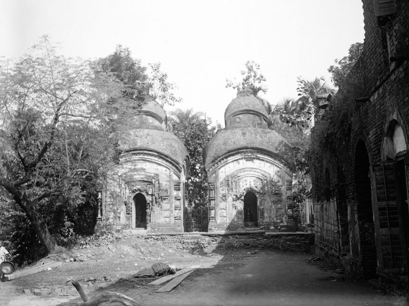 Two Small Terracotta Temples in Bengal - c1912-14