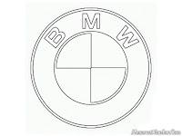 Gambar logo mobil BMW untuk diwarnai