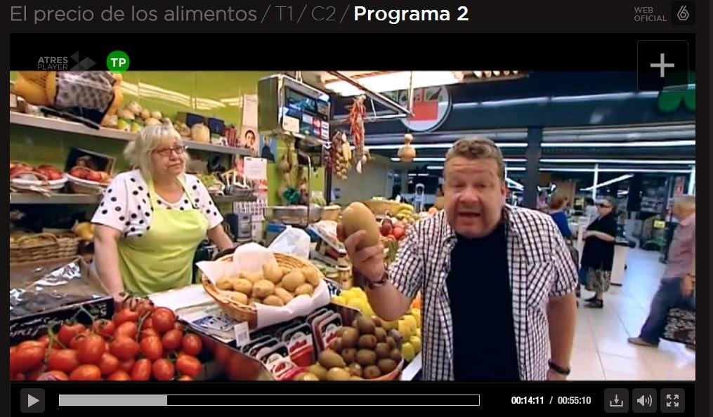 Programa de A3media sobre las patatas