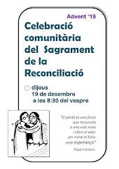 SAGRAMENT DE LA RECONCILIACIÓ. DIJOUS 19 DE DESEMBRE