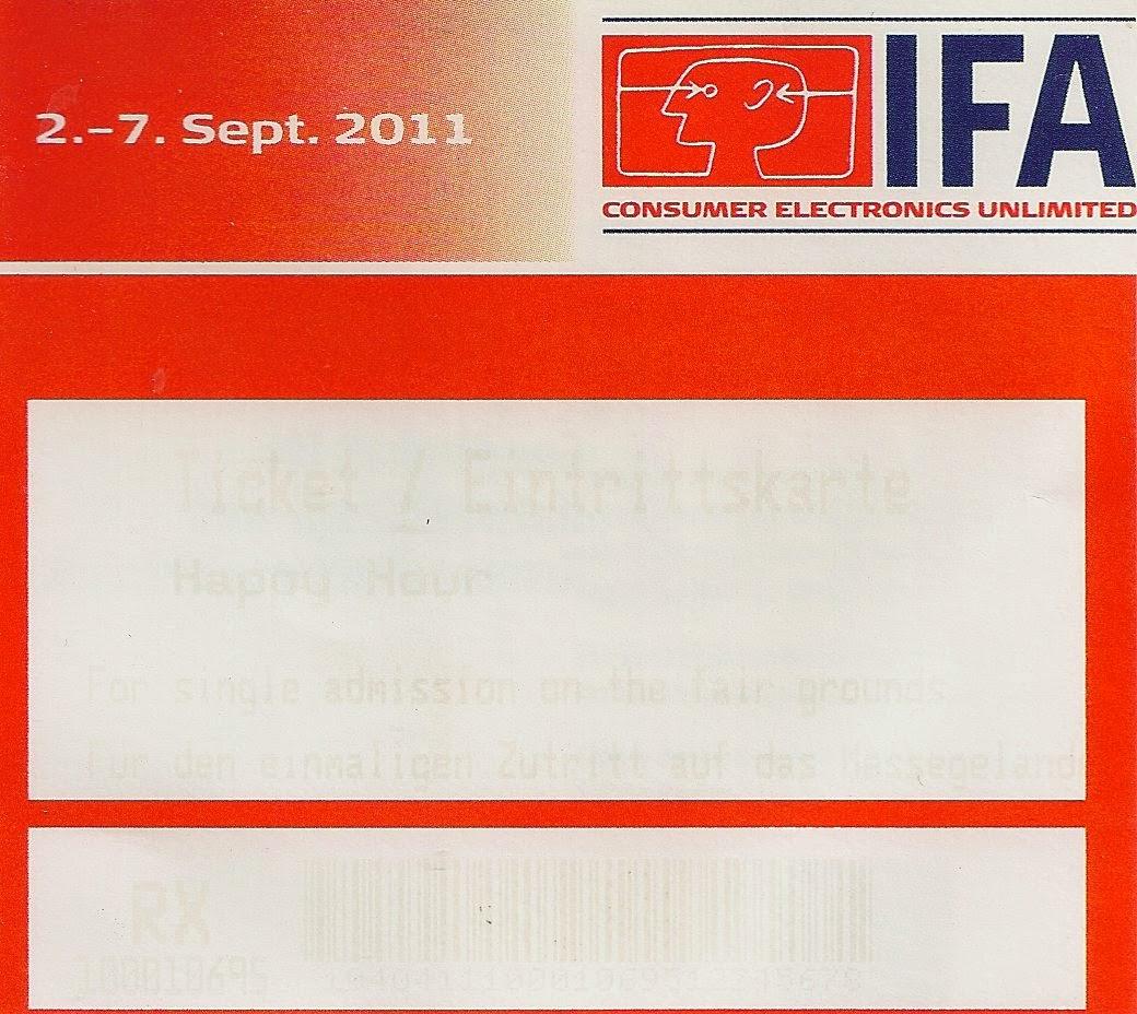 Seit beginn 2011 sammel wir bei jedem besuch der IFA die Eintrittskarten.